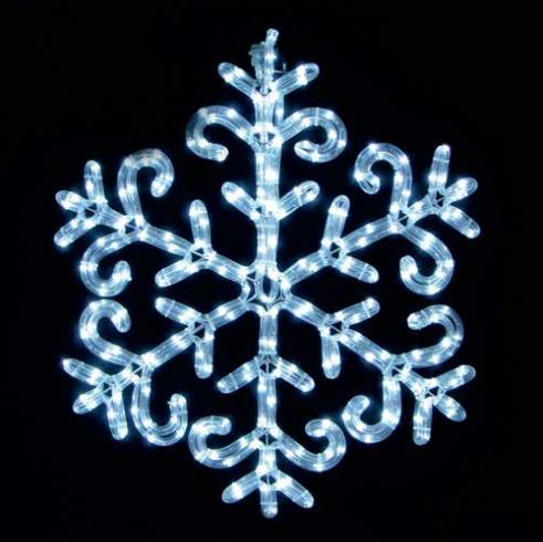 светодиодная фигура снежинка