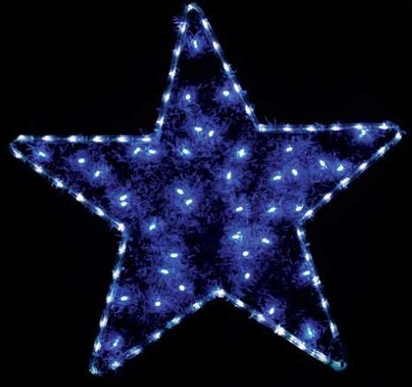 светодиодная фигура звезда с мишурой