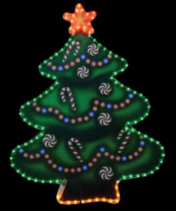 светодиодная фигура елка